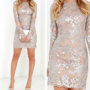 Grace Silver Sequin Dress